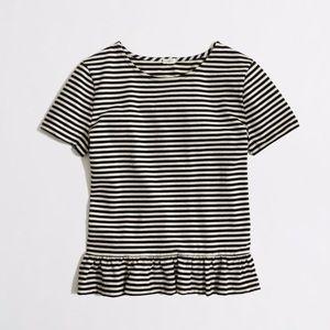 J. Crew Striped Peplum Shirt